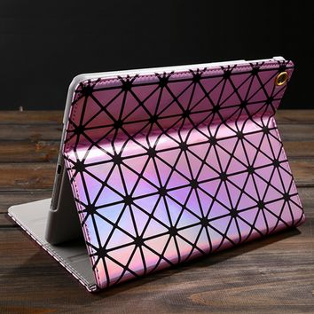 Geometric Laser Leather Case for iPad