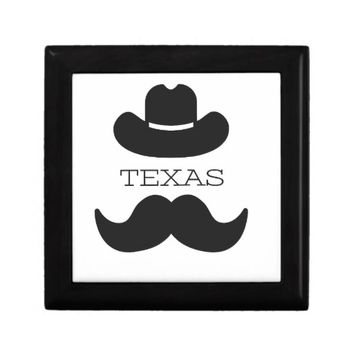 Texas in White Jewelry Box