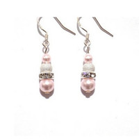 Rosaline pearl drop earrings