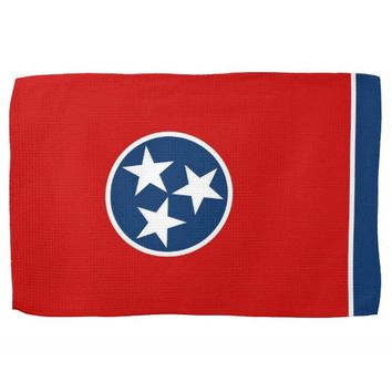 Kitchen towel with Flag of Tennessee, U.S.A.