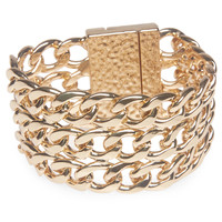 Glam Stacked Chain Link Bracelet | Wet Seal