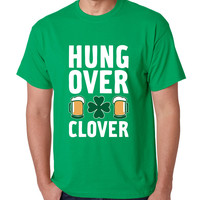 Men's T Shirt Hungover Clover St Patrick's Day Party T Shirt