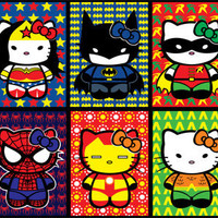 Hello Kitty Superheros Sticker 10pk