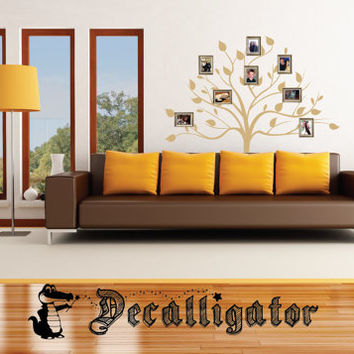 Wall Decal - Family Tree - Great Mural-Like Vinyl Art to Hang Picture Frames Over [015]