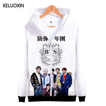 KPOP BTS Bangtan Boys Army KELUOXIN 3D   Hoodies Women Men Love Yourself Tear Zipper Sweatshirt  Boys Oversized Hoodie  Hip Hop Moletom AT_89_10