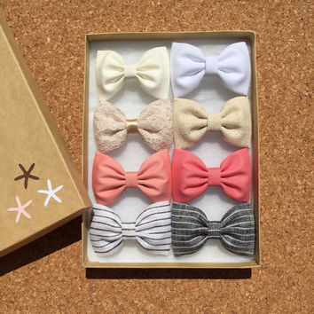Seaside Sparrow favorites hair bow set of eight. Hair bows for teens Hair bow hair bows for girls hair clip cute hair bows hair bows