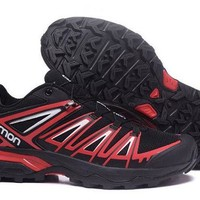 DCCKY4E Salomon Ultra Trail Running Shoes Sport Outdoor Trainers Black And Red