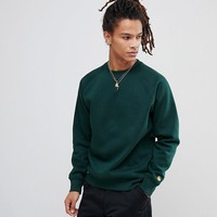 Carhartt WIP Chase Sweatshirt In Green at asos.com