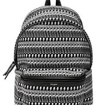 Wiberlux Saint Laurent Men's Skeleton Print Backpack