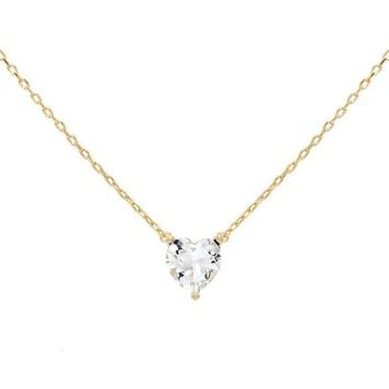 Heart CZ Necklace