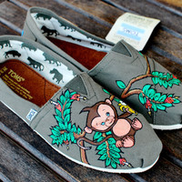 Baby Monkey Jungle TOMS by BStreetShoes on Etsy