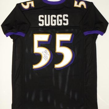 Terrell Suggs Signed Autographed Baltimore Ravens Football Jersey (JSA COA)