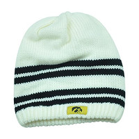NCAA Iowa Hawkeyes Katelyn Womens Knit Beanie Striped Toque Ladies Cuffless Hat