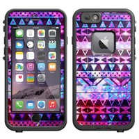Skin Decal for LifeProof Apple iPhone 6 Case - Aztec Nebula Galaxy Black