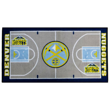 NBA Denver Nuggets Rug Basketball Runner Carpet