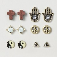 Assorted Peace and Balance Stud Earrings – Claire's