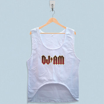 Women's Crop Tank - DJ AM Logo