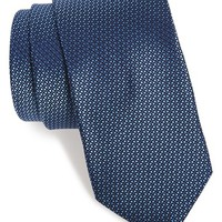 Men's Michael Kors 'Dot Dot Dash' Woven Silk Tie