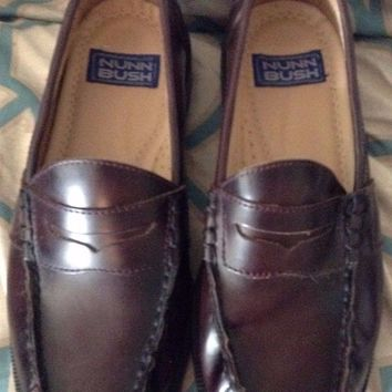 Nun Bush Brown slip on Penny Loafers brown career formal leather 8 M