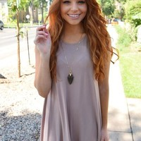 New Moon Tank Dress Taupe