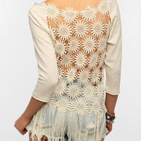 Staring At Stars Fringe-Back Sweatshirt