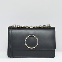 River Island Real Leather Circle Cross Body Bag at asos.com