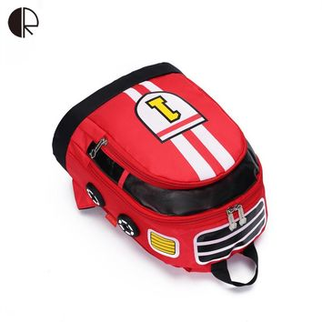 Mini Children School Bags Cartoon Car Backpack Baby Toddler kids Book Bag Kindergarten Rucksacks