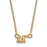 14K Plated Silver Delta Gamma XS Necklace