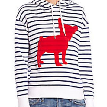 Etre Cecile - Striped Cotton Dog Hoodie - Saks Fifth Avenue Mobile