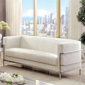 Leifur Contemporary Sofa In White