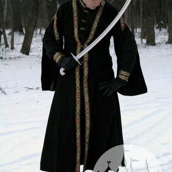 DISCOUNTED PRICE! Medieval Slavic Warrior Costume; sca garb; sca mens costume; warrior garb