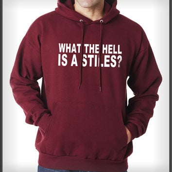 What the hell is stiles Stilinski Beacon hills lacrosse teen wolf Unisex Pullover Hoodie