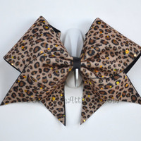 "3"" Wide Luxury Cheer Bow - Cheetah"