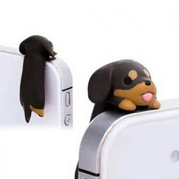 Phone Charms 3.5 mm Dust Plug for iPhone 4 4S 5 5S HTC Samsung Ipad 2 3 4 Mini Ipod Blackberry Sony Nokia (Dachshund)