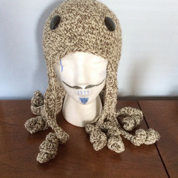 "Wool Octopus Hat ""Olivier"" - Crochet Character Hats - Adult Animal Hat - Kids Character Beanie - Wool Winter Hat - Funny Kids Hats"
