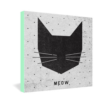Wesley Bird Meow Gallery Wrapped Canvas