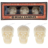 Skull Candles Set of Three