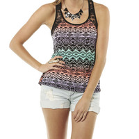 Tribal Lace Inset Tank | Shop Tops at Wet Seal