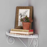 Swirl Corner Shelf- White One