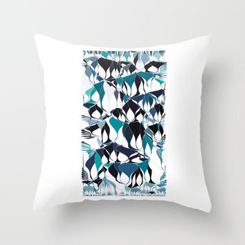 Abstract waves Throw Pillow by VanessaGF