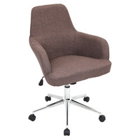 Lumisource Degree Office Chair Brown in Brown