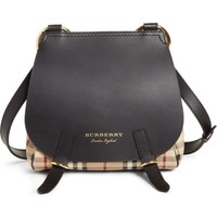 Burberry Bridle Check & Deerskin Shoulder Bag | Nordstrom
