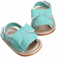 Bow Tassel Baby Sandals Faux Leather 0-18M