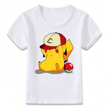 Kids Clothes T Shirt Matryoshka Pikachu Evolution Pichu  T-shirt for Boys and Girls Shirts TeeKawaii Pokemon go  AT_89_9
