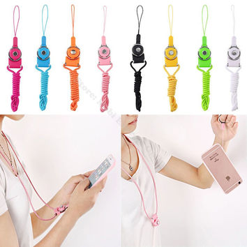 Mobile Cell Phone Straps Neck Lanyard Hand Finger Hang Rope Key Cord Keychain Camera Lariat Line For Huawei P8/P9/Plus Honor 8/7