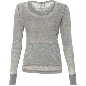 Yoga Clothing for You Ladies Zen Thermal Long Sleeve Tee Shirt