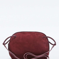 Plum Suede Loop-Handle Cross Body - Urban Outfitters