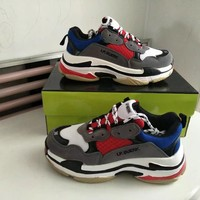 Unisex Sport Casual Retro Fashion Multicolor Thick Bottom Sneakers Couple Running Shoes