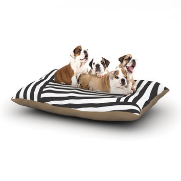 "Louise Machado ""Black Stripes"" Dog Bed"