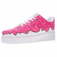 """Nike Air Force 1 Low Canvas AF1 Sneaker """"Ice cream""""596728-818"""